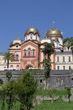 New Athos the Simon the Zealot monastery  in Abkhazia. New Athos the Simon the Zealot monastery - monastery located at the foot of mount Athos in Abkhazia Royalty Free Stock Photos