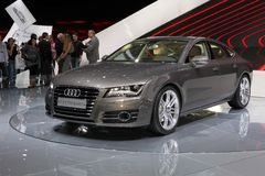The new Audi A7 Quattro Royalty Free Stock Images