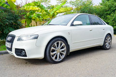 New Audi A4 parked on the street in suburbia. Royalty Free Stock Photography