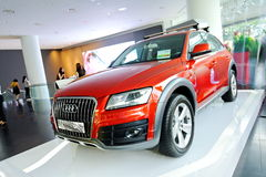 New Audi Q5 crossover SUV on display at Audi Centre Singapore Royalty Free Stock Image