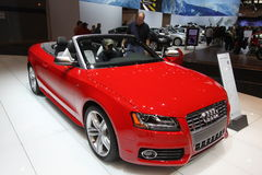 New Audi S5 Cabriolet. Audi exposition at Chicago auto show 2011 Royalty Free Stock Photo