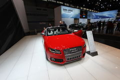 New Audi S5 Cabriolet. Audi exposition at Chicago auto show 2011 Royalty Free Stock Image