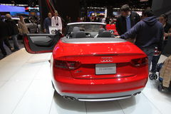 New Audi S5 Cabriolet. Audi exposition at Chicago auto show 2011 Stock Photos