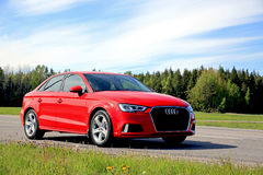 New Audi A3 Sedan at Summer stock image
