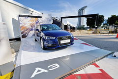 New Audi A3 Sportback on display at A3 Ttraktion Zone event Stock Photography