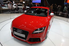 New Audi TT RS. Audi exposition at Chicago auto show 2011 Royalty Free Stock Image