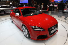 New Audi TT RS. Audi exposition at Chicago auto show 2011 Stock Photography