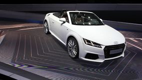 New Audi TT 2.0 TDI ultra at the IAA 2015 stock footage