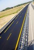 New autobahn. Road of a new autobahn Royalty Free Stock Photos