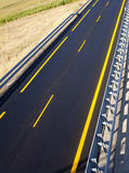 New autobahn. Road of a new autobahn Stock Photo