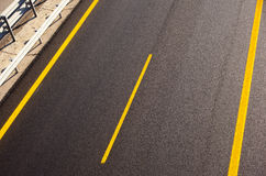 New autobahn. Road of a new autobahn Royalty Free Stock Images