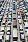 New automobiles stock image