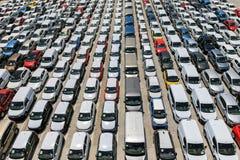 New automobiles Stock Photo