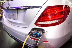 New Automotive Innovations, the charging the battery for the Mercedes-Benz. Nonthaburi Thailand:- Dec 7, 2018: New Automotive Innovations, the charging the royalty free stock photos