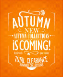 New autumn collections Royalty Free Stock Image