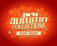 New autumn collections design. Royalty Free Stock Images
