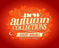 New autumn collections design. Stock Photo