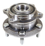 New axle hub unit for front or rear wheel of car, isolated on white background Royalty Free Stock Image