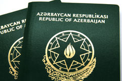 New Azerbaijan Passport with Microchip Stock Photography