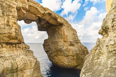 New azure window at gozo malta. It`s new named azure window at malta Royalty Free Stock Photos