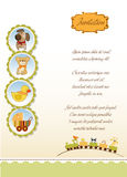 New baby announcement card royalty free stock photo