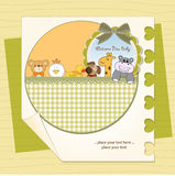 New baby announcement card. In vector format Royalty Free Stock Photos