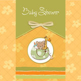 New baby announcement card Stock Image