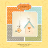 New Baby Announcement Card With Chicken Royalty Free Stock Photos