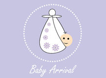 New baby arrival background Stock Images