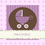 New baby arrival card Stock Photography