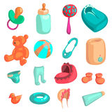 New baby biorn icons set, cartoon style Stock Photo