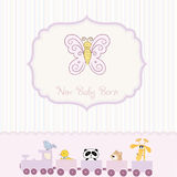 new baby born announcement card Royalty Free Stock Images