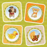 New baby born announcement card Royalty Free Stock Image