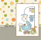 New baby boy. Announcement card Royalty Free Stock Image
