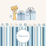 New Baby Boy Announcement Card Royalty Free Stock Photos
