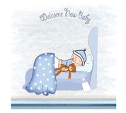 New baby boy arrived Royalty Free Stock Images