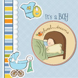 New baby boy arrived Royalty Free Stock Photos