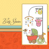 New baby girl. Announcement card Royalty Free Stock Image
