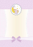 New baby girl announcement card Royalty Free Stock Images