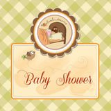 New baby girl arrived. Shower card Royalty Free Stock Photo