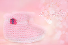 New baby girl royalty free stock photo