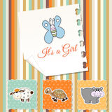 New baby girl shower invitation Stock Photo