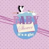 New baby Invitation it's a girl Royalty Free Stock Images