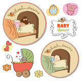 New baby items set Stock Image