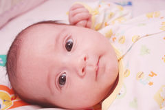 New baby looking at camera Royalty Free Stock Photos