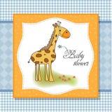 New baby shower card vector illustration