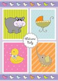 New baby shower invitation Stock Images