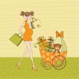 New baby shower invitation Stock Photo