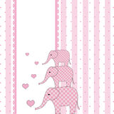 New baby shower invitation card Stock Image