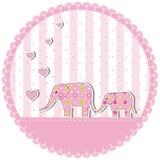New baby shower invitation card Stock Photos